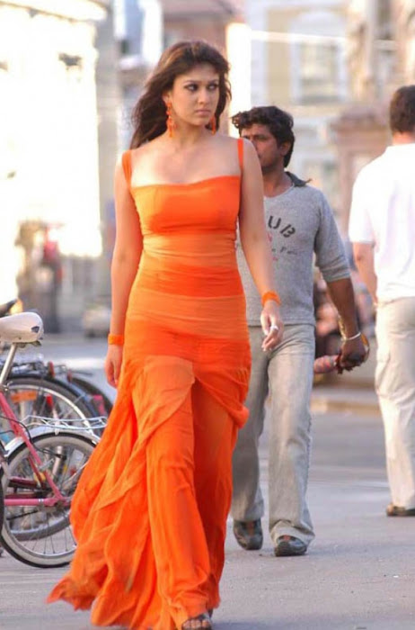 nayanthara in orange dress actress pics