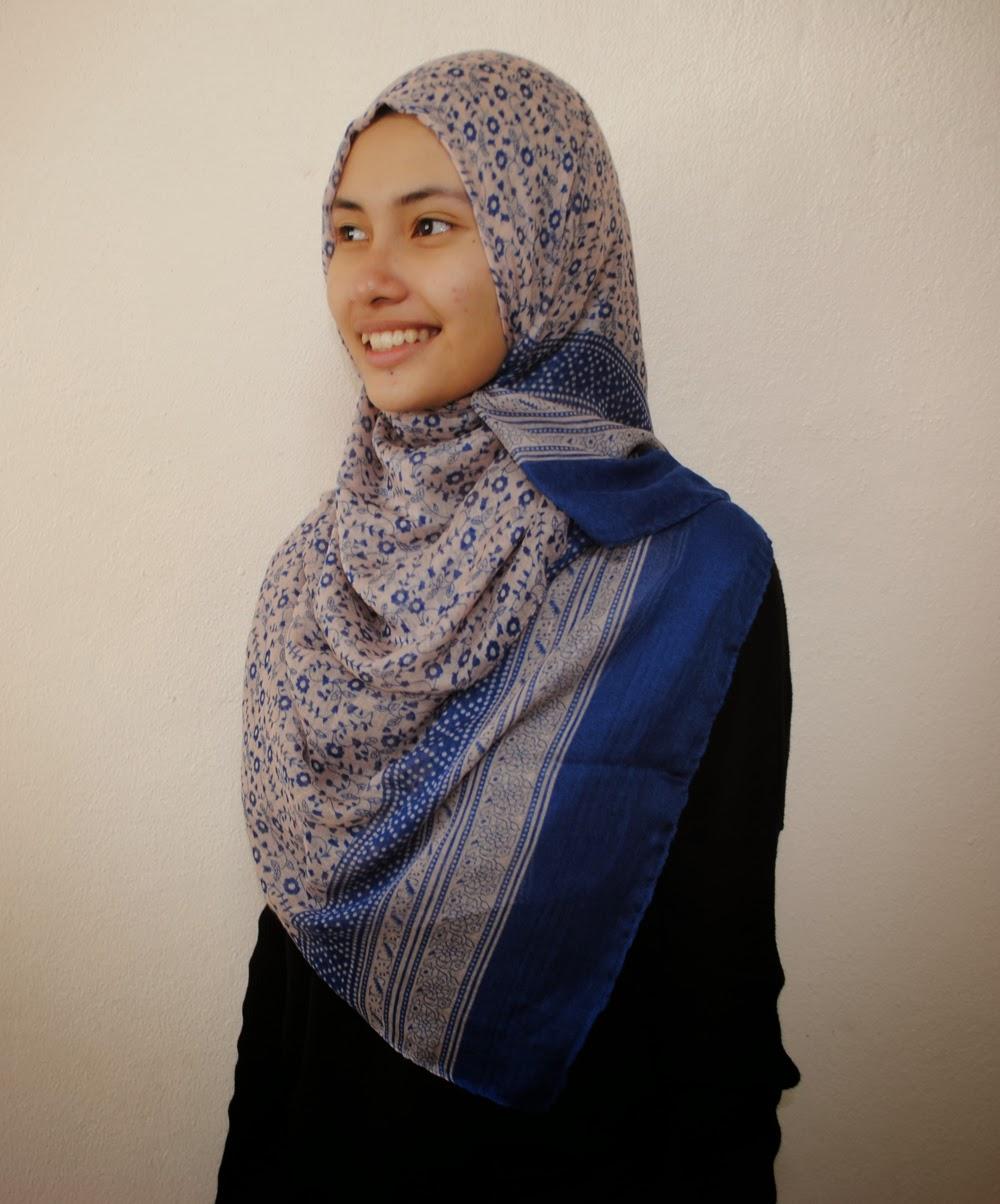printed wide shawl