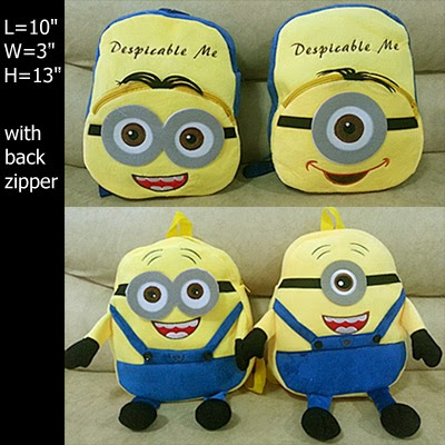 despicable me minion backpack bag