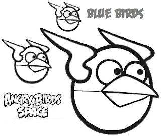 angry birds space - blue bird