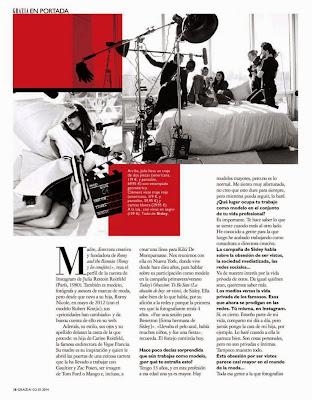 Julia Restoin Roitfeld Grazia Spain Magazine Photoshoot January 2014 HQ Pics