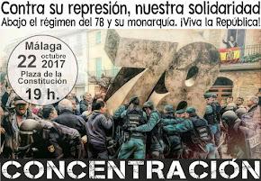 Contra su represión, nuestra solidaridad. ¡Viva la República!