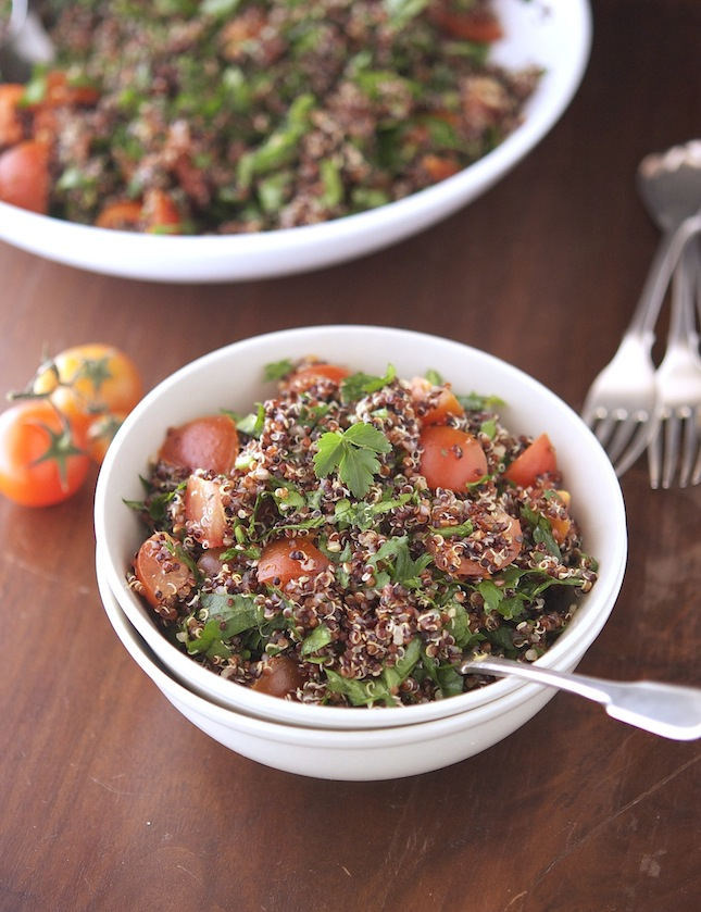 Red and Black Quinoa Tabbouleh