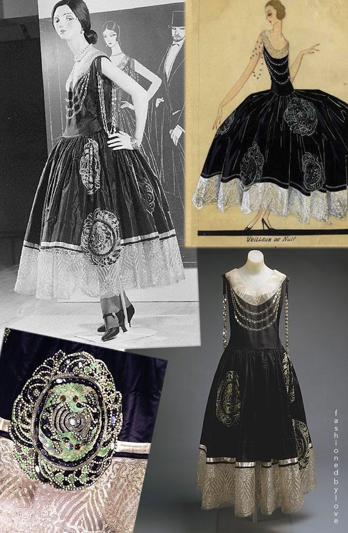 Lanvin Veilleur de Nuit silk dress 1924 | via fashioned by love