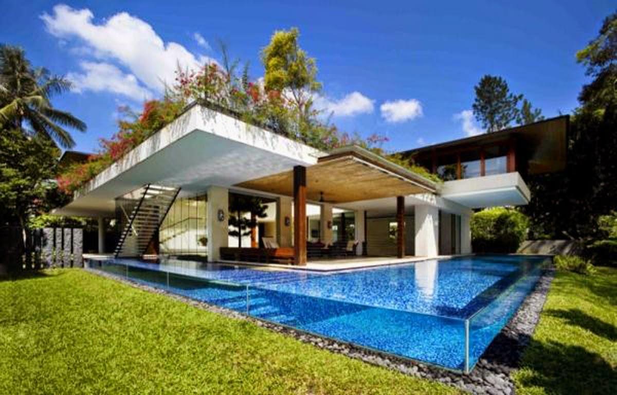 Desain Rumah Mewah Classic Dengan Kolam Renang & Desain Rumah Mewah Dengan Kolam Renang | Desain Rumah