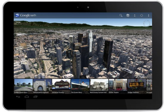 Google Earth 7.0 for android on tablet