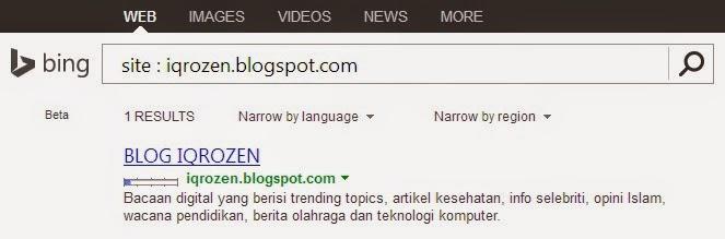 Cara Cepat Ping Blog dengan Bing