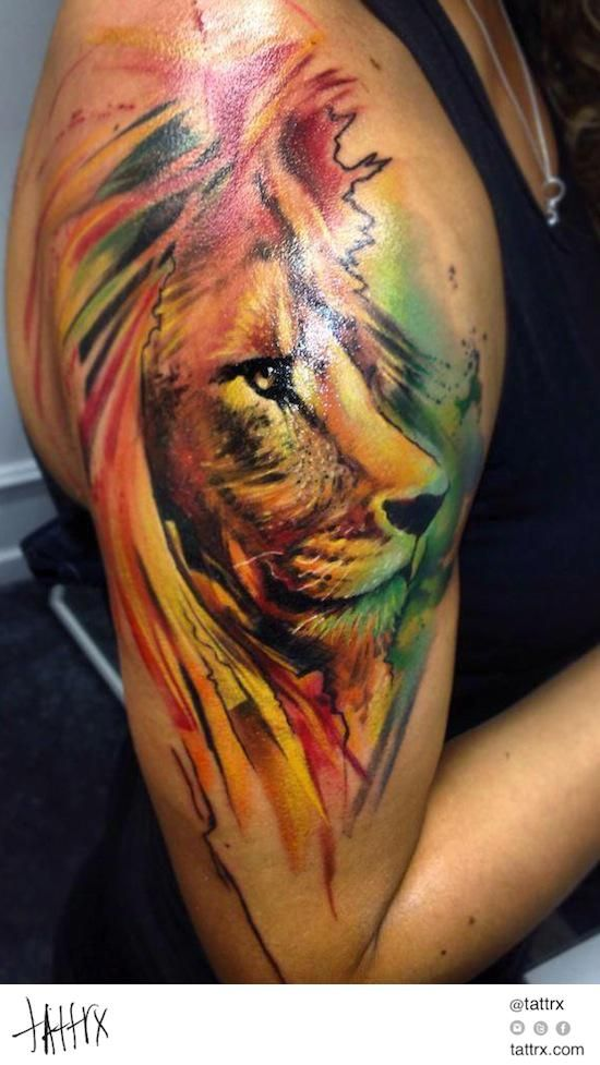 Tatuajes de leones y dise os de regalo belagoria la - Tattoo disenos a color ...