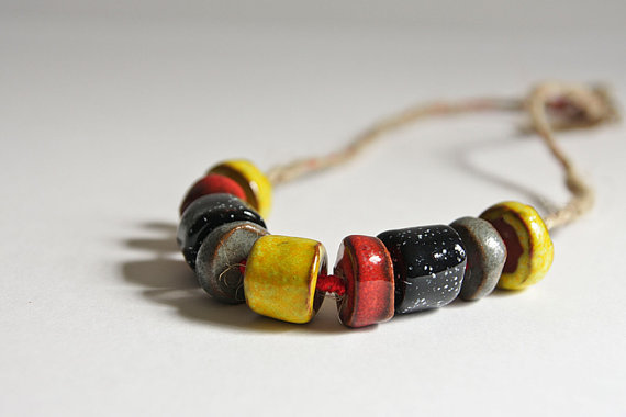 Ceramic necklace by karoArt