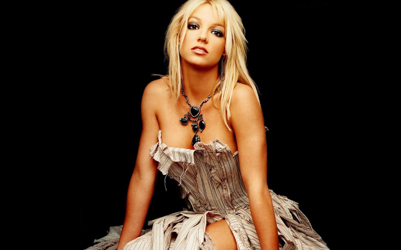 Britney Spears Black Background
