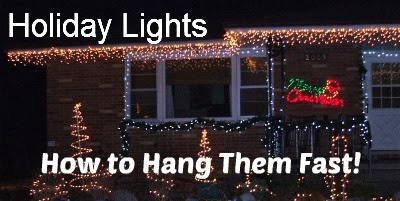 Best Way To Hang Christmas Lights Outside: I admit it, I cannot stand it when Christmas lights are crooked and they  need to be re-done. I live south of the Windy City, so anything outside?,Lighting