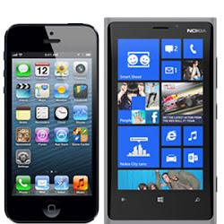 perbandingan iphone 5 vs nokia lumia 920, daftar hp canggih terbaru 2013, iphone sama lumia bagusan mana?