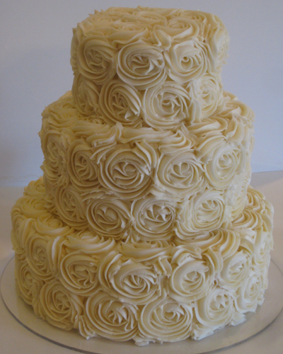 Rose Swirl Cake Design : Wedding Cakes by Dawna: Rose Swirl