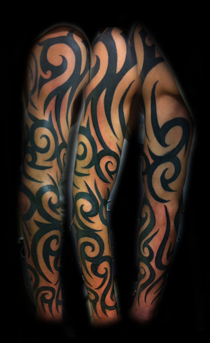 Tatto tribal half sleeve tattoos for women for Women s tribal tattoos designs