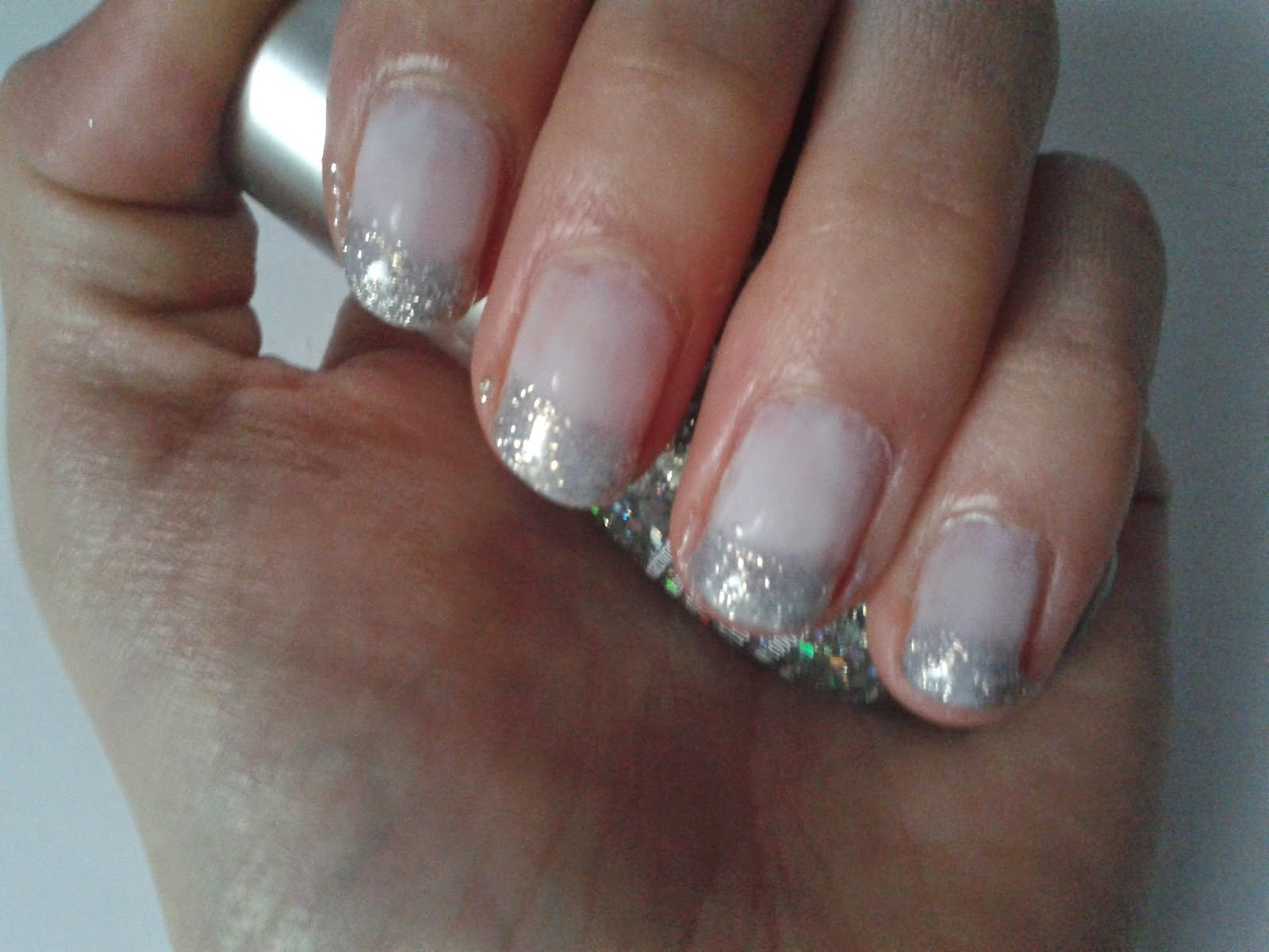 I Go By Claudia Nail Art Tutorial Glitter French Manicure