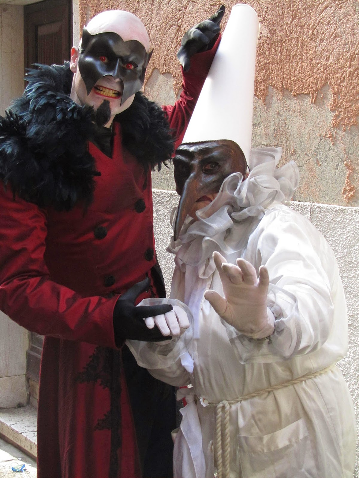 devil and a pulcinella
