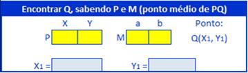 Planilha no Excel sobre distância entre pontos no plano