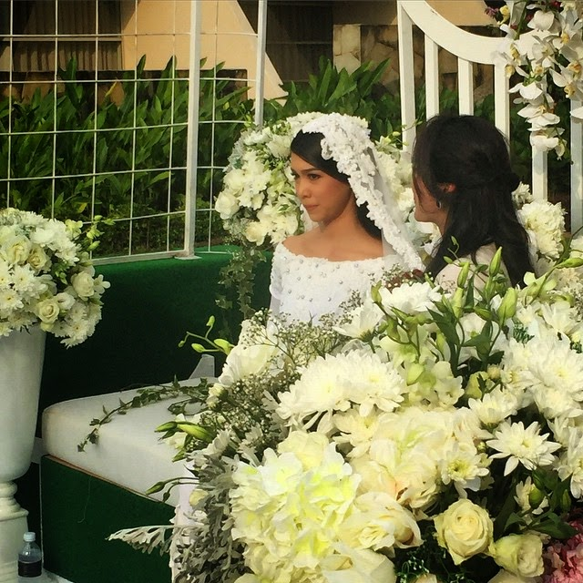 10 Gambar Pernikahan Sharifah Sakinah Aliff Adha Tahniah