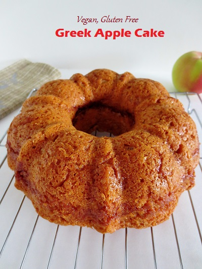 vegan, gluten free greek apple cake / milopita (+meatlessmonday) and a mediterranean-themed meal plan