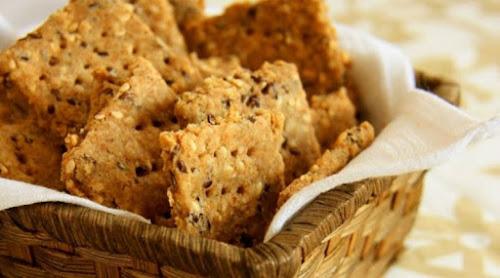 Receita de biscoito integral caseiro