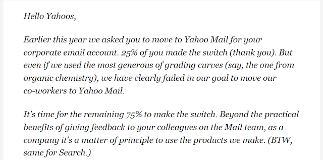 Even Yahoo! Employees Don't Want To Use Yahoo! Mail  | Ghantagiri.com