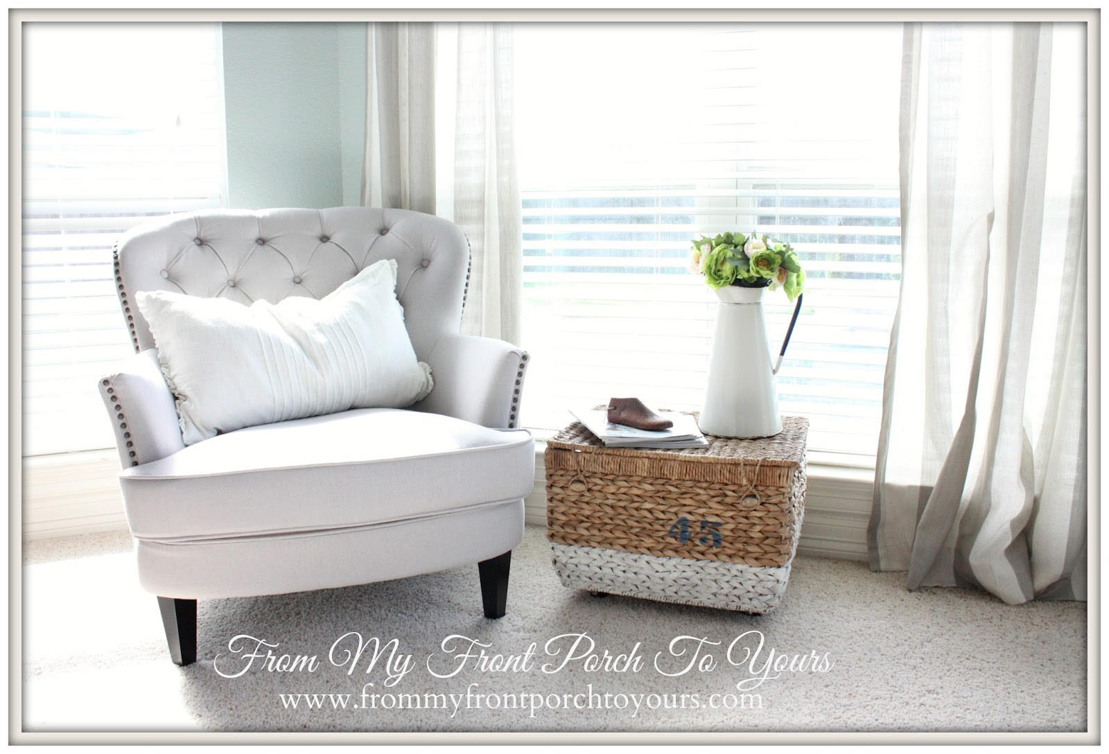 Bedroom chair reading - From My Front Porch To Yours Bedroom Reading Nook