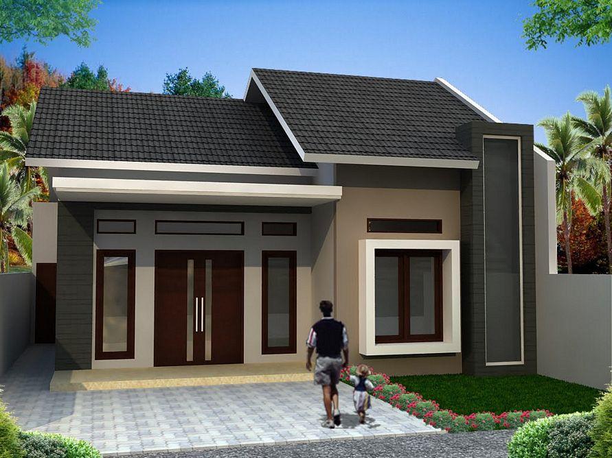 desain cat eksterior rumah 1 lantai terbaru