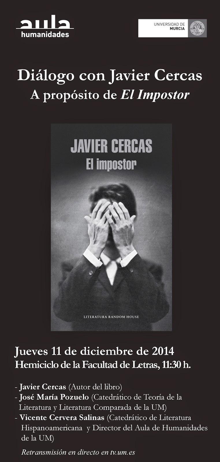 """Presentación de """"El impostor"""" de Javier Cercas."""