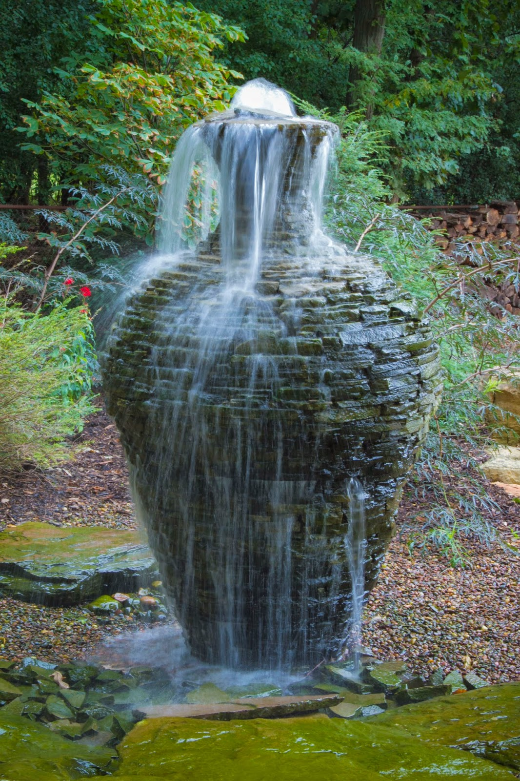 Aquascape your landscape for Waterfall fountain