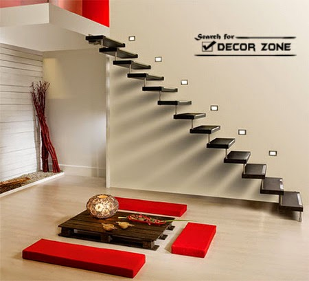 no railings staircase designs for minimalism style in the interior - Staircase Designs For Homes