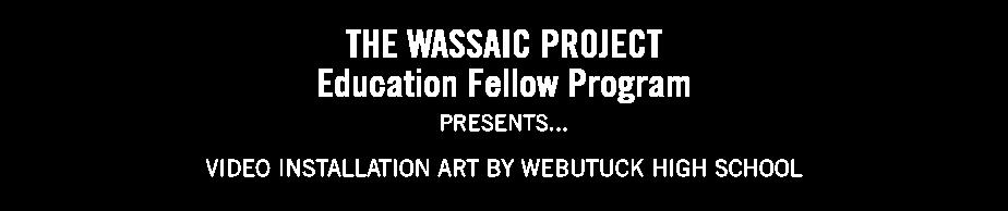 Video Installation Art by Webutuck High School
