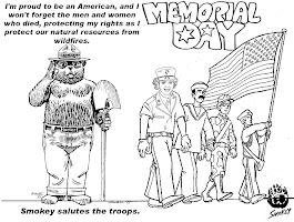 Printable Smokey The Bear Coloring Pages