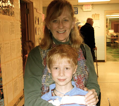 Casey and Grandma at Coxsackie Elementary School.