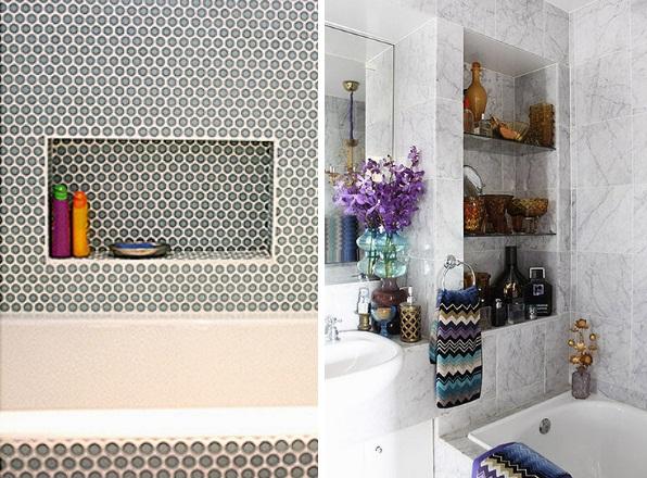 Gabinete Para Banheiro Nichos de parede para banheiro -> Nicho Gabinete Banheiro