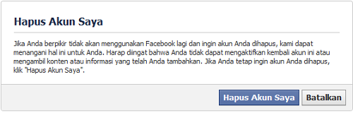 Akun DL FB 1 Cara Hapus Permanen Account Facebook