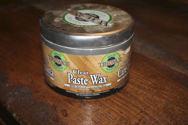 Trewax Clear Paste Wax - DIY Rustic Farmhouse Table Makeover - Nest of Bliss