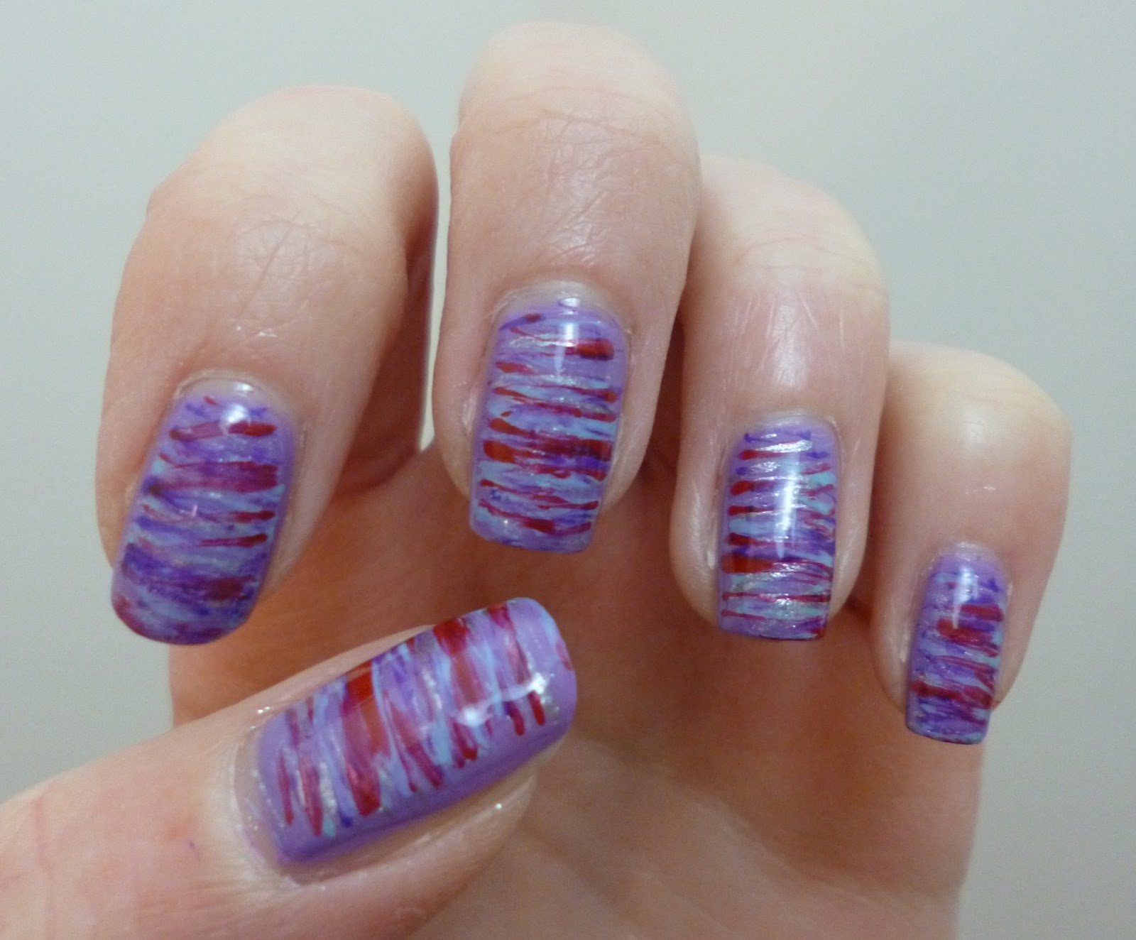 caz 'n' polish: Fan Brush Striped Nails