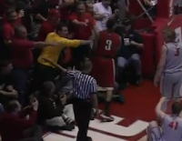 New Mexico fan shoves UNLV guard Anthony Marshall