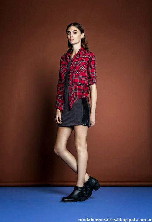 Camisas escocesas última moda invierno 2014. Estancias Chiripá colección.