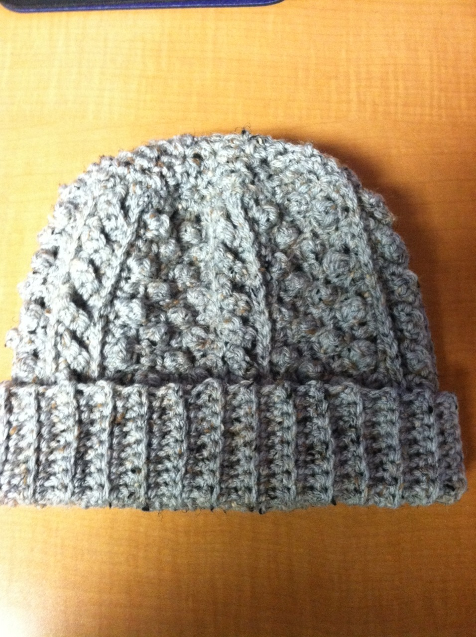 Cats and Crafts: Crocheted Grey Fleck Fisherman Hat