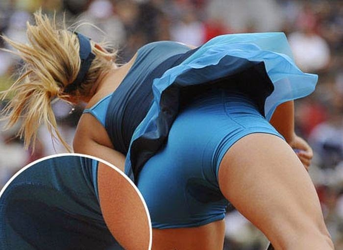 smešne teniske slike: teniska igračica se upiškila u donjem vešu