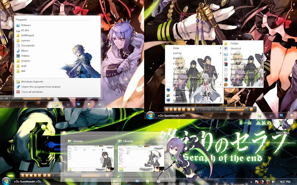 / Theme Windows 7 / Owari no Seraph 4