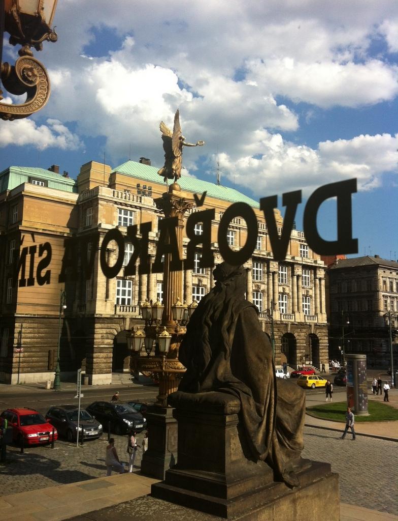 View from the Rudolfinum, Prague Czech Republic