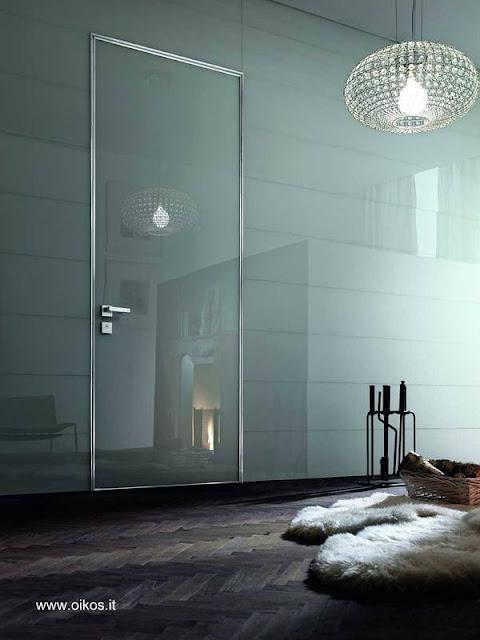 Modelo de puerta italiana para interiores acabado brillante