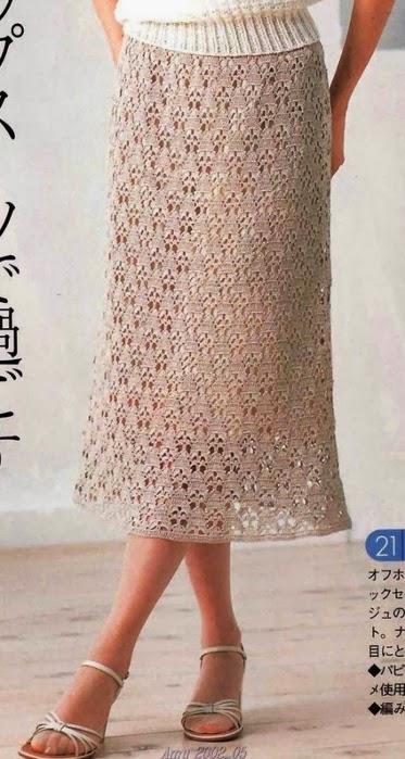 Юбка красивым узором крючком юбки ,платья вязанные крючком Постила