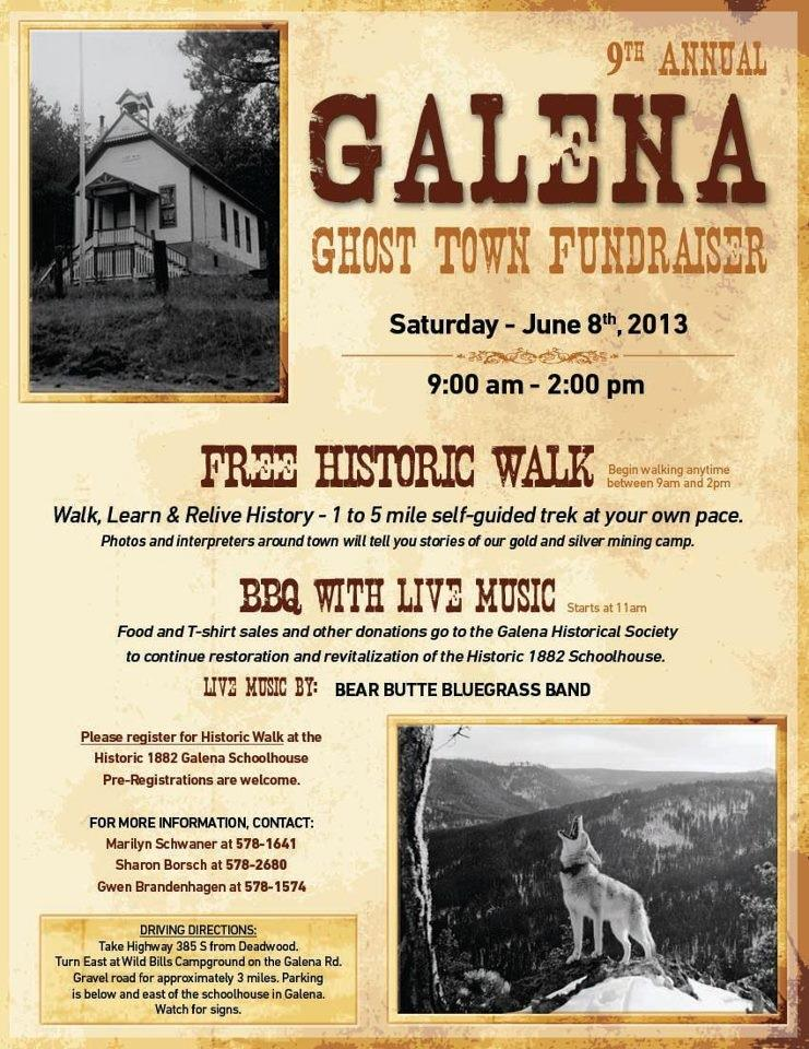 9th Annual Galena Ghost Town Fundraiser June 8th 2013