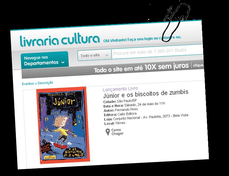 Lançamento Livraria Cultura