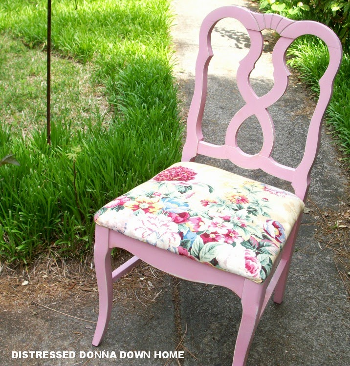pink chair makeover