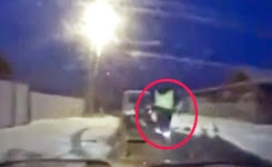 Russian police chase ends in surprise