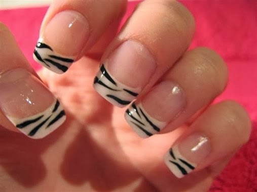 Wonderful Zebra Nail Designs